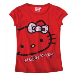 T-shirt HELLO KITTY  rouge