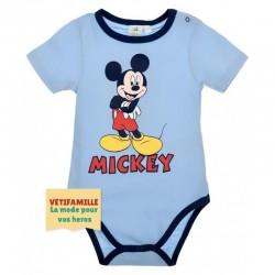 Body bébé Mickey mouse bleu...
