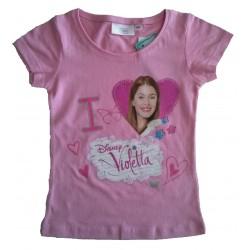 Tee-shirt 'Violetta' rose