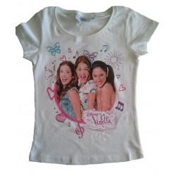 Tee-shirt 'Violetta' blanc