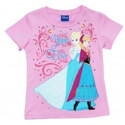 T-shirt rose Anna et Elsa...