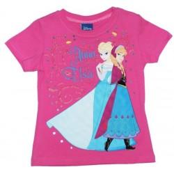 T-shirt fushia Elsa et Ana...