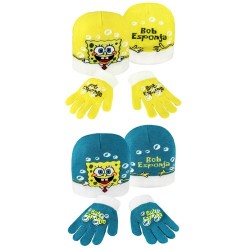 Bonnet et gants Bob L'eponge