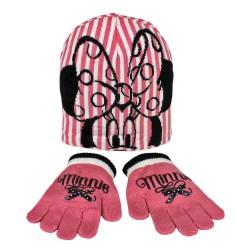 Bonnet et gants rose Minnie