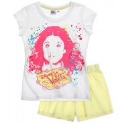 Violetta pyjama court jaune