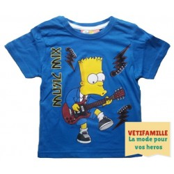 T-shirt Simpson  bleu ciel