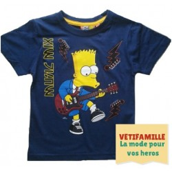 Tshirt Simpson  bleu fonce
