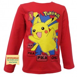 POKEMON - T-shirt rouge...