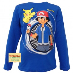 POKEMON - T-shirt bleu...