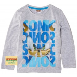 SONIC - T-shirt gris...