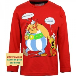 ASTERIX - T-shirt rouge...