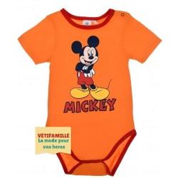 Body bébé Mickey mouse Orange