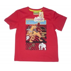 T-shirt Scooby Doo Rouge