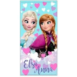 Serviette de plage reine des neiges fille microfibre Elsa Anna