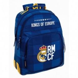 Grand Sac à Dos Real Madrid bleu collège / lycée 32x42x15cm