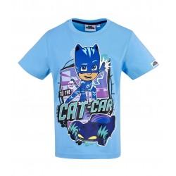 Pyjamasques Tee-shirt manches courtes bleu PJ masks CAT CAR