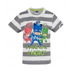 Pyjamasques Tee-shirt manches courtes gris PJ masks GO GO