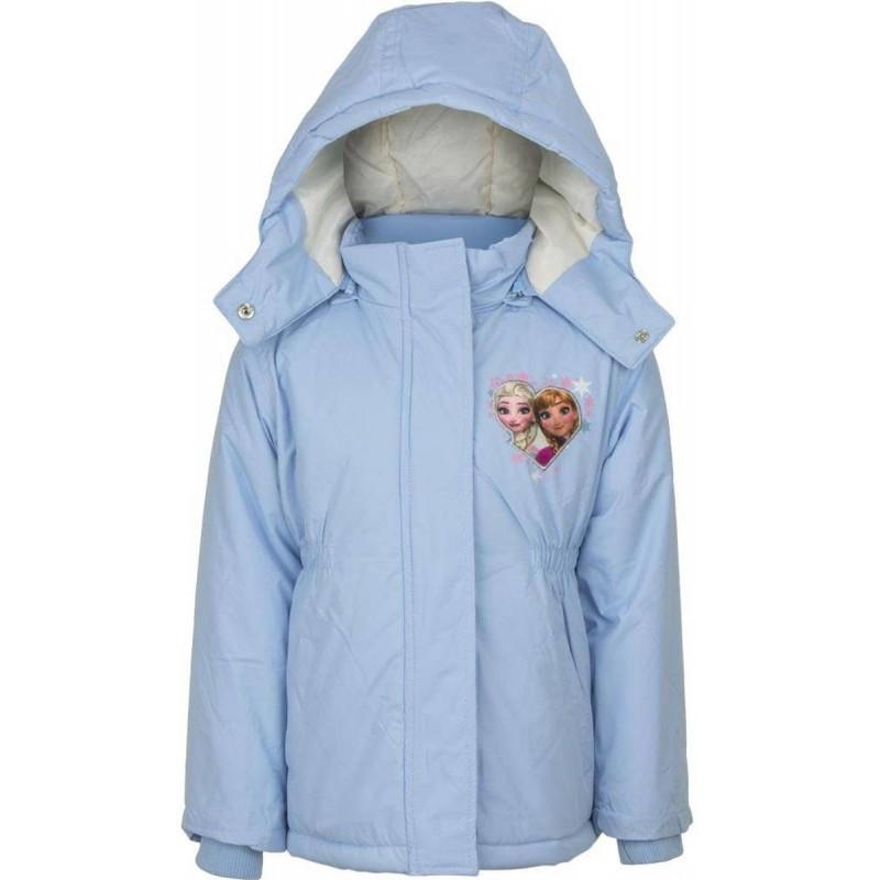 Blouson manteau Reine des Neiges bleu ciel