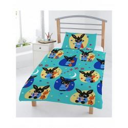 4 en 1 Bing Bunny Parure de lit housse de couette 120x150 + 1 taie + couette + oreiller pour lit bebe