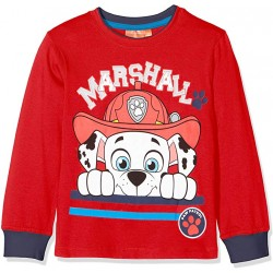 Paw patrol T-shirt Manches longues rouge Pat la patrouille MARSHALL