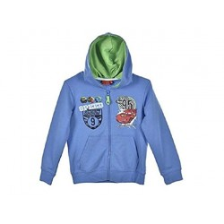 Sweat zippé gilet à capuche Disney Cars bleu