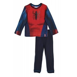 Pyjama long  Spiderman costume deguisement 100% coton rouge