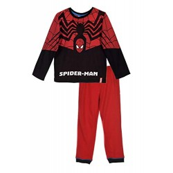 Pyjama long  Spiderman costume deguisement 100% coton noir