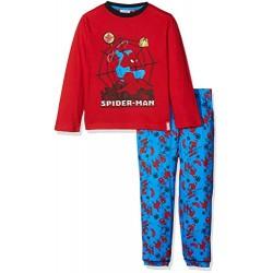Pyjama Spiderman long rouge avec motifs heros