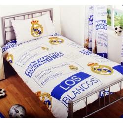 Parure de lit 1 personne Housse de couette Real Madrid et 1 taie polycoton