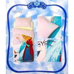 Parure de lit La Reine des Neiges en coton pour 1 pers