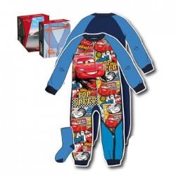 Box Pyjama Combinaison polaire Cars bleu avec chaussettes