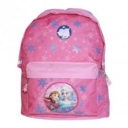Grand sac à dos cartable Reine des Neiges rose