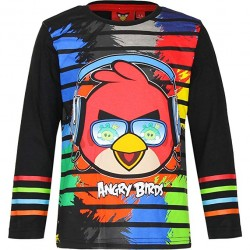 T-shirt Manches longues Angry Bird Noir