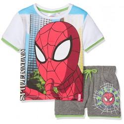 Ensemble T-shirt et short imprimés SPIDERMAN en coton