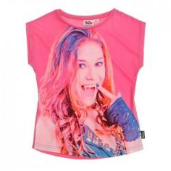 T-shirt Chica Vampiro manches courtes rose