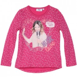 Violetta T-shirt manches longues rose Music Love