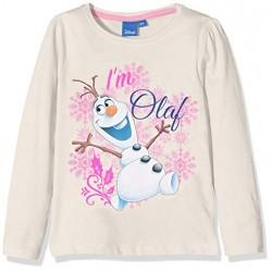 Reine des Neiges T-shirt blanc manches longues OLAF fille