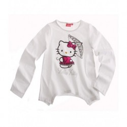 Hello Kitty T-shirt manches longues blanc