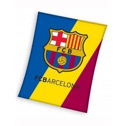 Plaid polaire 100% polyester 110cm x 140cm à l'effigie de votre équipe favorite FC BARCELONE
