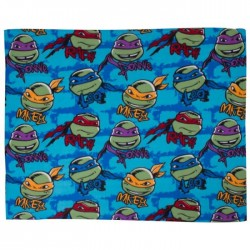 Plaid polaire Tortues Ninja 120 cm x 150 cm
