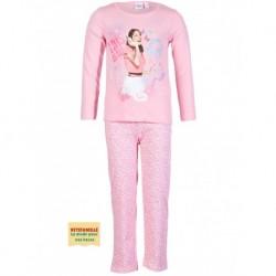 Violetta pyjama en coton long rose du 6 ans au 12 ans