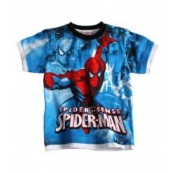 T-shirt bleu Spiderman
