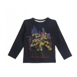 T-shirt  Tortues NINJA bleu...