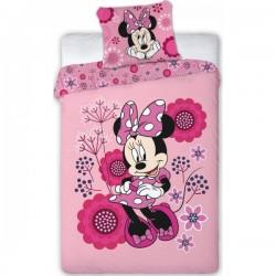 Parure de lit Minnie fleurs...