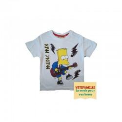T-shirt Simpson blanc