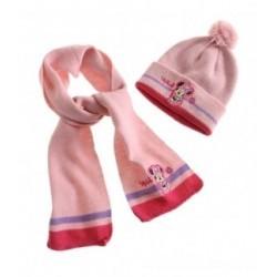 Bonnet et écharpe rose Minnie