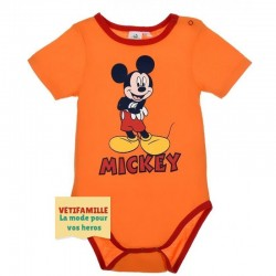 Body bébé Mickey mouse Orange