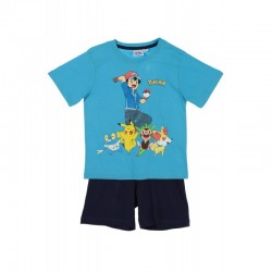 Pyjama court POKEMON bleu ciel