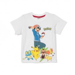 T-shirt POKEMON blanc