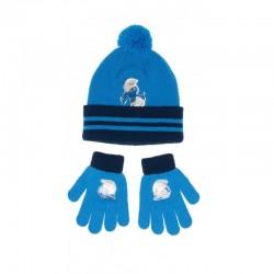 Schtroumpf  Bonnet et gants...